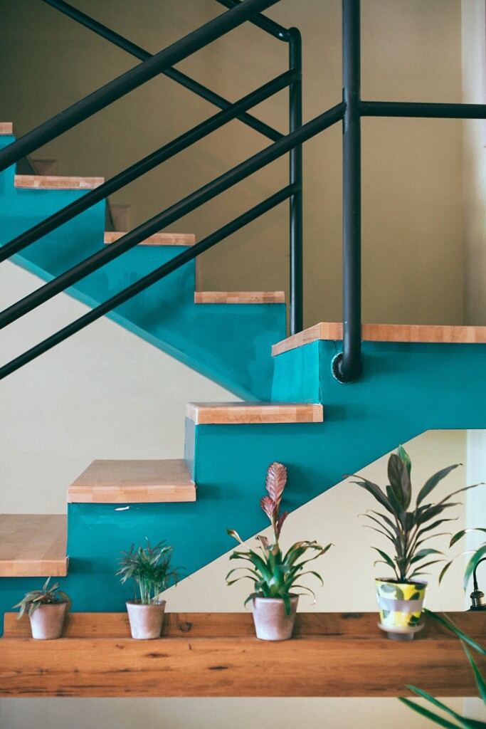 peinture escalier sticker contremarche