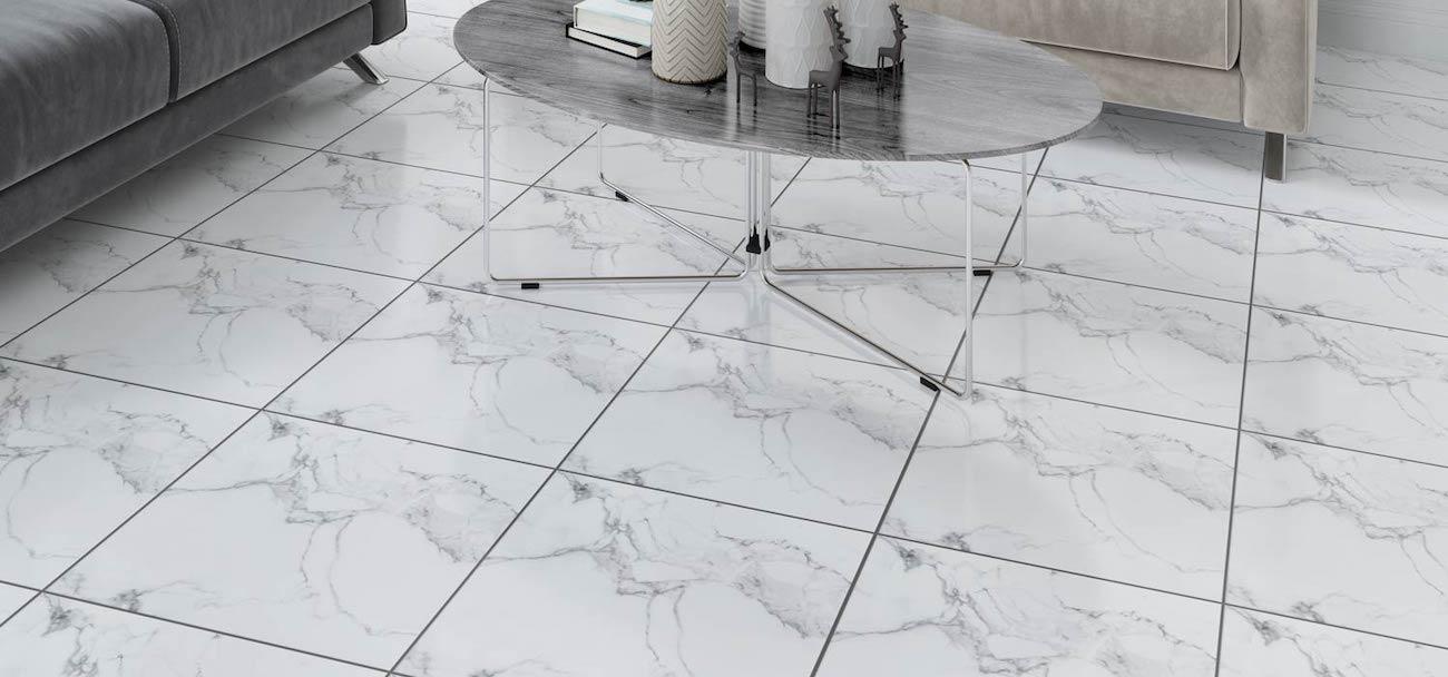 sticker sol imitation marbre