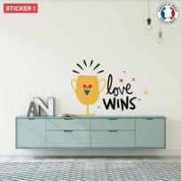 Sticker Citation Love Wins