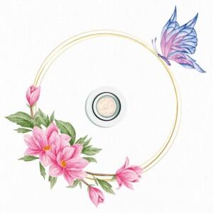 Autocollant Pour Plafond Papillon Fleurs