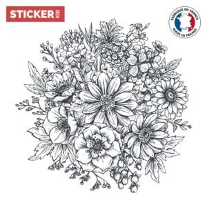 Plafonnier Adhésif Fleurs Doodle