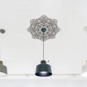 Plafonnier Adhésif Mandala Fleurie