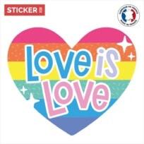 Sticker Coeur Love Is Love