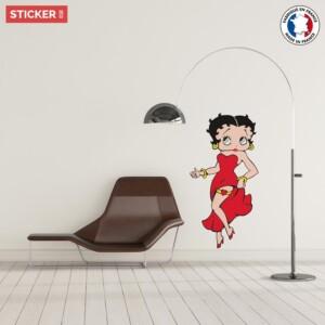 Sticker Betty Boop Dessin