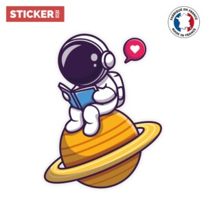 Sticker Cosmonaute Lecteur