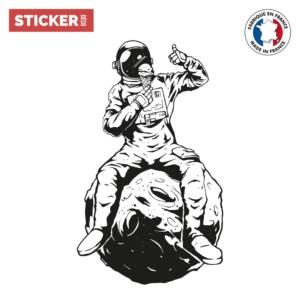 Sticker Cosmonaute Sur La Lune