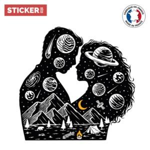 Sticker Espace Amour