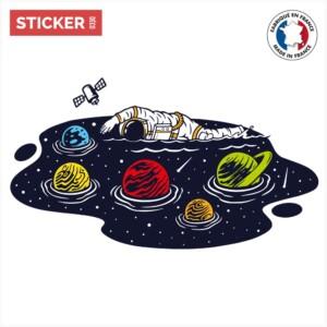 Sticker Nager Dans L'espace