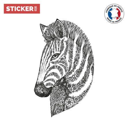 Sticker Boho Dessin De Zebre
