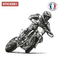 Sticker Motard Dessin