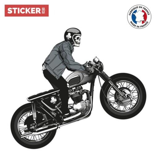 Sticker Motard Squelette