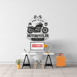 Sticker Moto Born To Ride