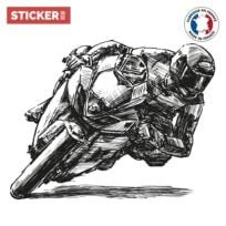 Sticker Moto Dessin Crayon