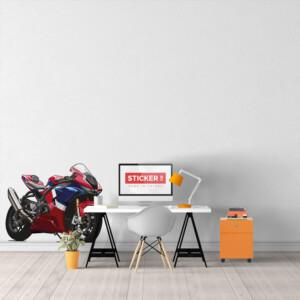 Sticker Moto Rouge