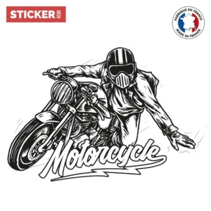Sticker Motocyclette