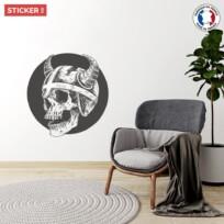 Sticker Viking Tete De Mort