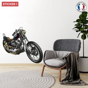Sticker Vintage Moto Americaine