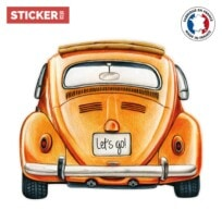 Sticker Vintage Voiture