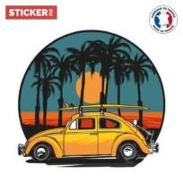 Sticker Voiture Surf