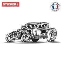 Sticker Voiture Vintage Doodle