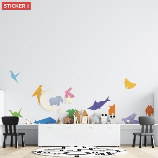 Stickers Animaux Origami