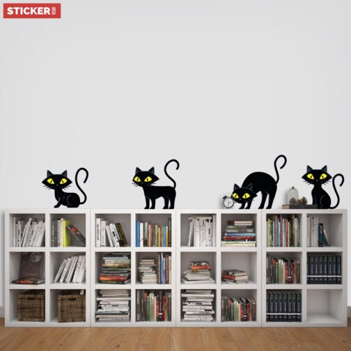 Stickers Chatons Noir