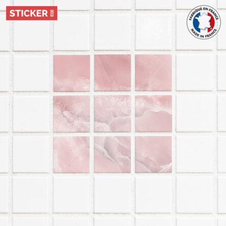 Stickers Carrelage Marbre Rose Poudré